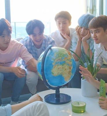 "NATURE REPUBLIC X EXO ""Aloe Soothing Gel"""